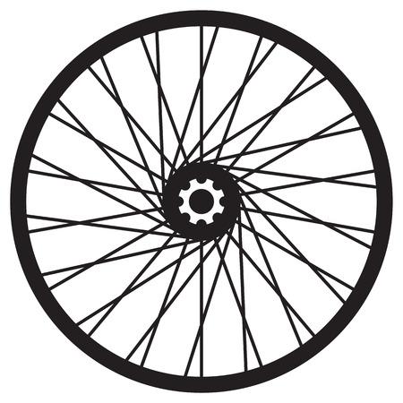ベクトル形式の自転車の車輪、