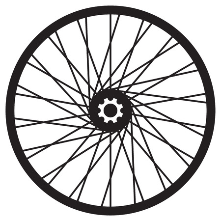aluminum wheels: Bicycle wheel, vector format