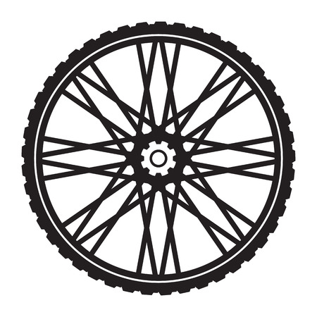 Bicycle wheel, vector format Vector