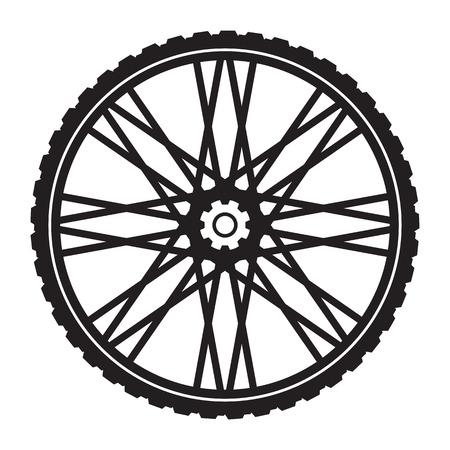 Bicycle wheel, vector format