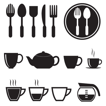 Kitchen icons set, vector format Vector