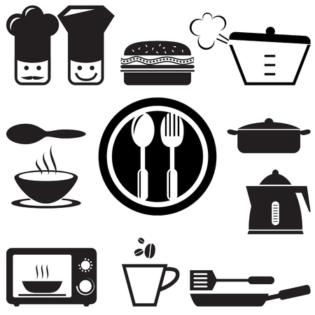 set of kitchen icons for web, vector format  Vector