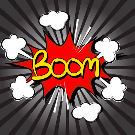Boom with radial speed. comic speech bubble Vector