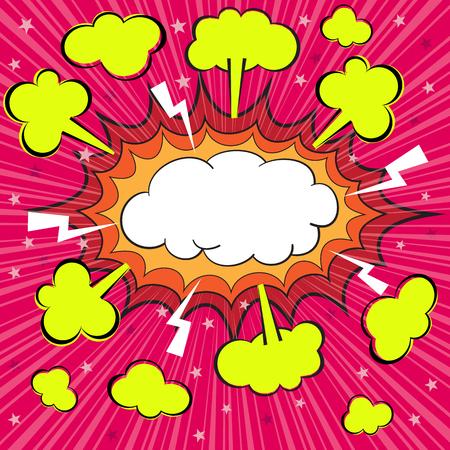 Boom blank comic speech bubble, vector illustration Vector