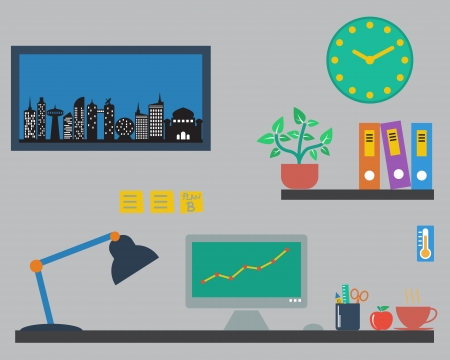 Flat design vector of designer office