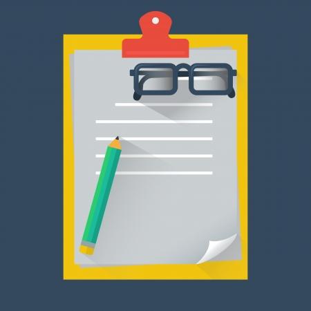 Note paper, vector format Vector