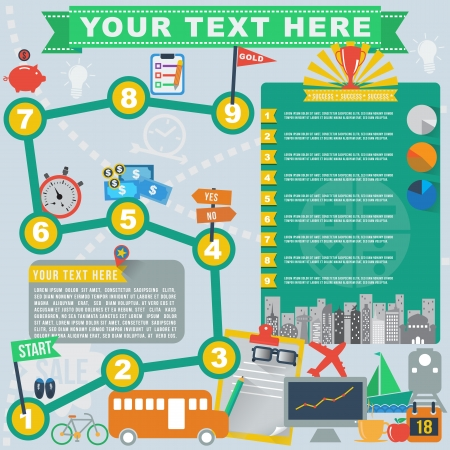 Travel business plan infographic  イラスト・ベクター素材