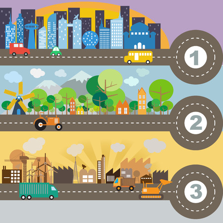 City infographic illustration  Vector