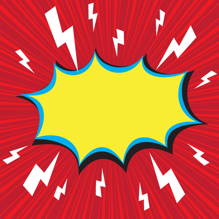 Boom comic speech bubble with radial speed, vector illustration Vector