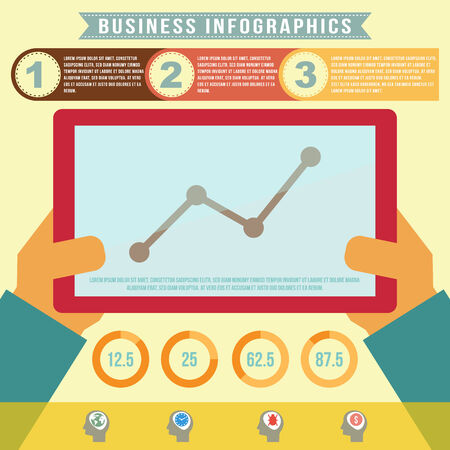 Business infographics, vector format Vector