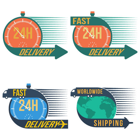 24h: Fast shipping delivery, vector format