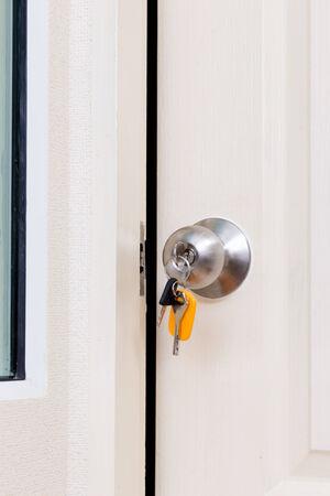 Door knob with keys photo