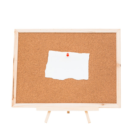 Cork board isolated on white background, clipping path photo