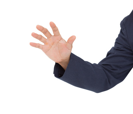 man's thumb: Man hand isolated on white background