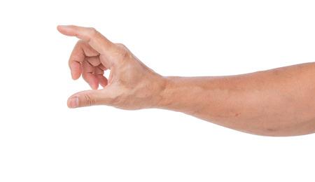 Man hand isolated on white background photo