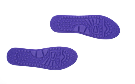 insoles: hygienic insoles for the shoes isolated on white Stock Photo