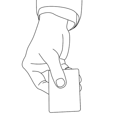 hand holding card: Hand holding card, vector format Illustration
