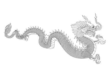 tatto: Dragon vector format