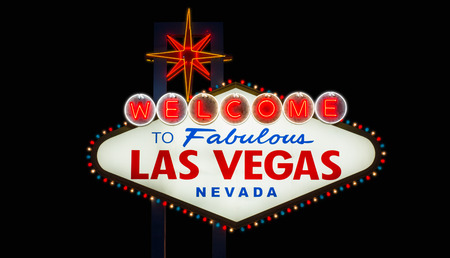 fabulous: Welcome to fabulous Las Vegas neon sign on black background