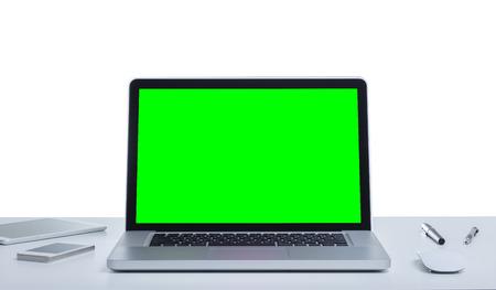 Groen scherm laptop computer