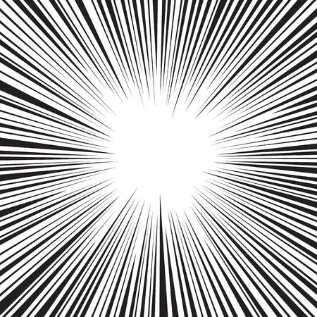 line art: Fondo radial velocidad Comic Foto de archivo