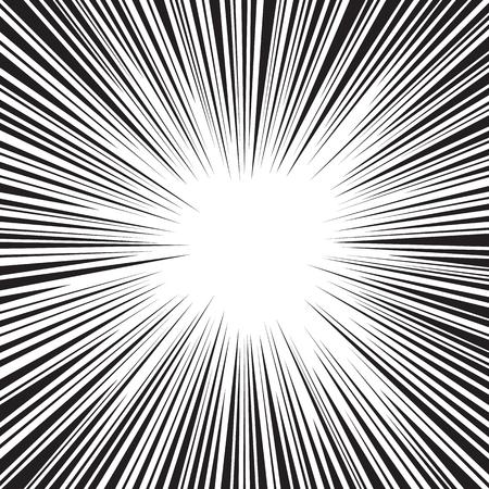 Comic speed radial background
