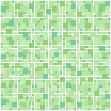 blue white kitchen: Green square tile wallpaper background Illustration