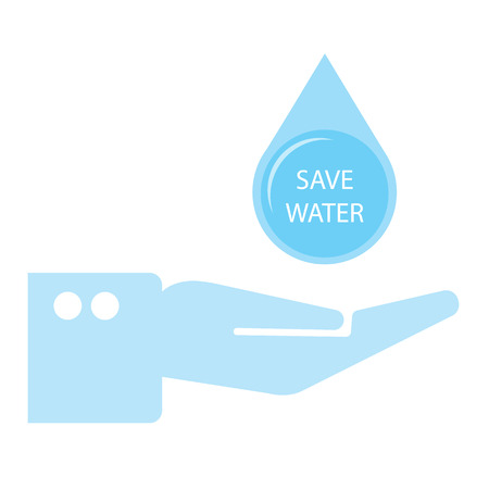 water concept: Save water Illustration