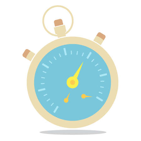 stop icon: Stop watch flat icon design