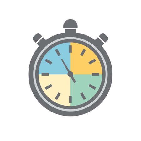 Stop watch flat icon design