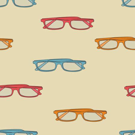 eyeglasses: Retro seamless eyeglasses pattern Illustration