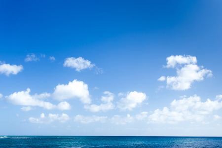 on air: Blue sea background Stock Photo