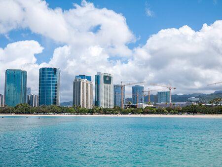 honolulu: Honolulu skyline with seafront