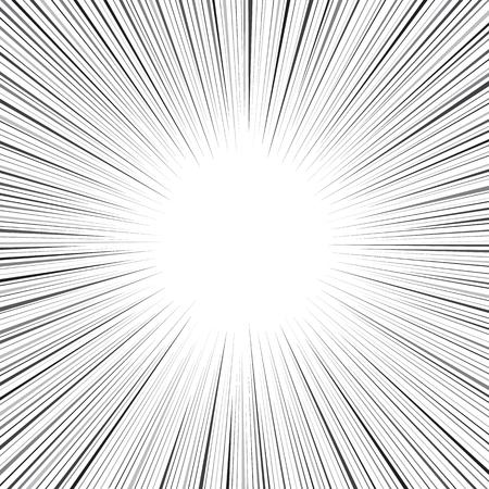 Comic speed radial line background Ilustracja