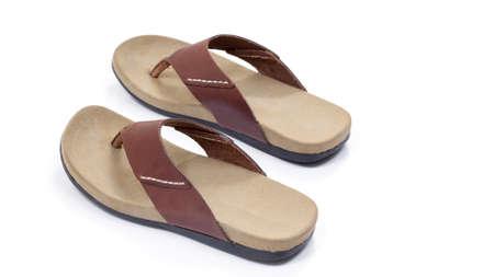 slipper: Leather slipper