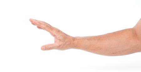 Man hand on white background