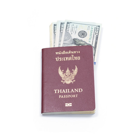 control fraud: Passport and US dollar banknote