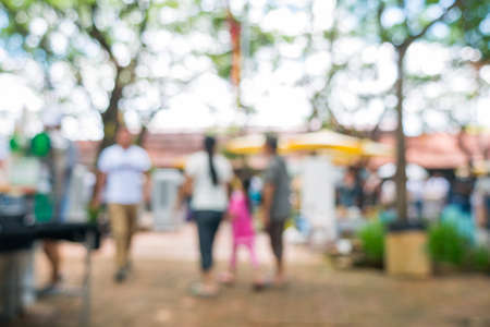 sunday market: Blurred image of street market