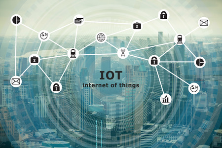 Smart city Internet of Things and Information Communication Technology Фото со стока - 66296809