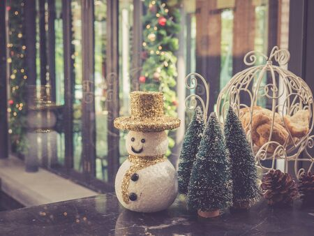 retro christmas: Christmas decoration with retro color effected Stock Photo
