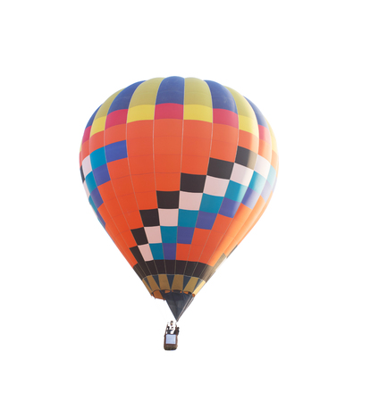 Hot air balloon on white background; clipping path