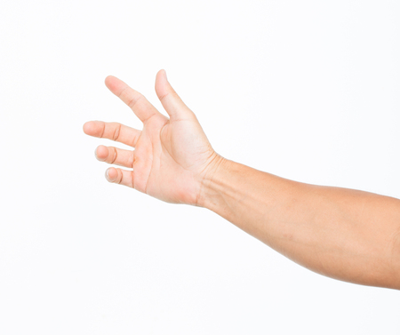 contracture: Man hand with wound Stock Photo