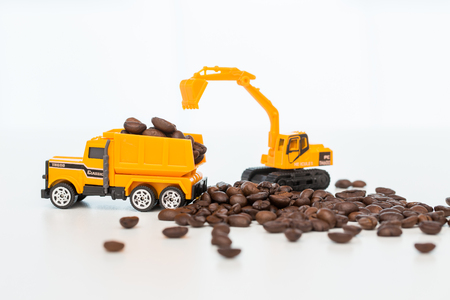 industrail: Model of industrail vehicles working with coffee beans