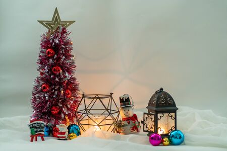 Christmas decoration with vintage color effected