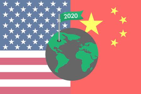 World 2020 USA and China trade war