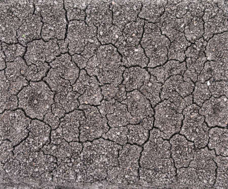 perpendicular: nature background cracked grey ground with clefts, perpendicular top view