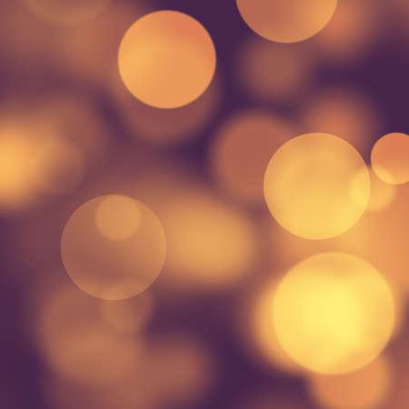 オレンジ抽象背景デフォーカス サークル ライト 写真素材