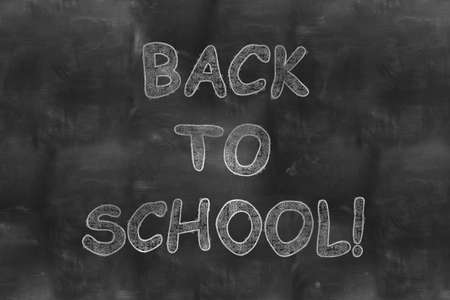 back to school on blackboard chalkboard photo
