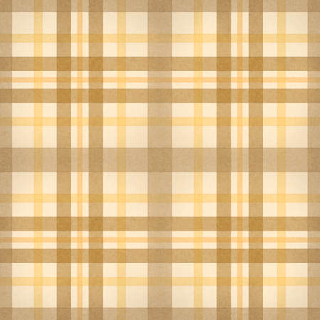 yellow brown checked fabric seamless pattern  computer generated abstract background Stock Photo - 14575301