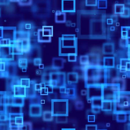 Blaue Quadrate abstrakte nahtlose Hintergrund Standard-Bild - 15447594